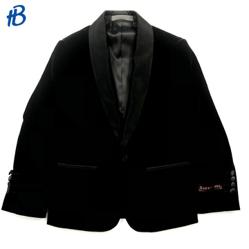 boy's black single-breasted tuxedo suit
