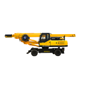 wheeled 20M mini pile driver for construction