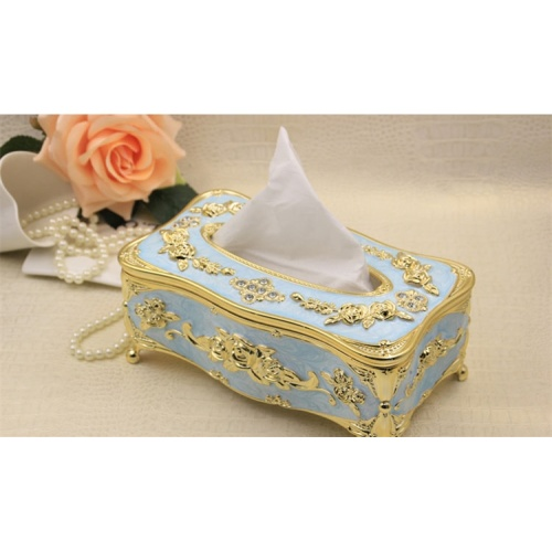 European Style Carved Rose Tissue Box