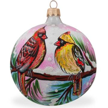 2019 Customized Christmas Ball Painted Glass Christmas Ball