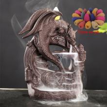 Backflow Incense Burner Dragon Pterosa Censer Holder Ceramic Stick Gifts Cone Censer Home Officer Decoration Crafts Dropshipping