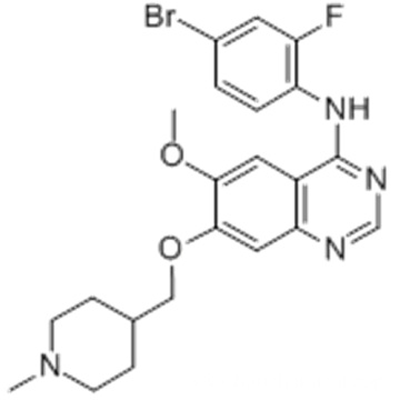 4-Quinazolinamine,N-(4-bromo-2-fluorophenyl)-6-methoxy-7-[(1-methyl-4-piperidinyl)methoxy] CAS 443913-73-3