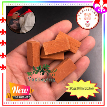 5PCS/Lot 1/6 Action Figure Scenes Accessories Baked ceramic Miniature Brick Red Brick Model 30*15*10MM Dollhourse Parts 1:12