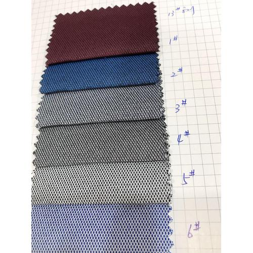 Cation Dyed Tooling Dobby Shirt Fabric