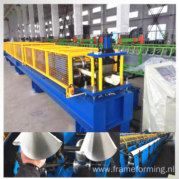 G550 steel rain gutter roll forming machine