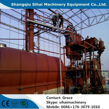 waste plastic oil distillation plant with high output