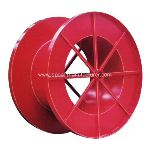 large empty cable spools