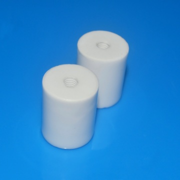 Glazed Industrial High Purity Threaded Alumina Ceramic Tube