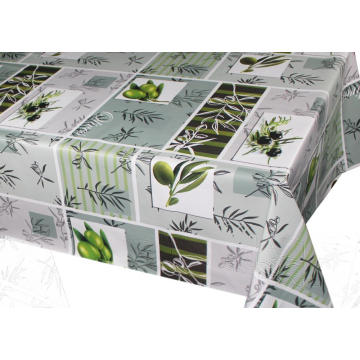 Elegant Tablecloth with Non woven backing Green Grass