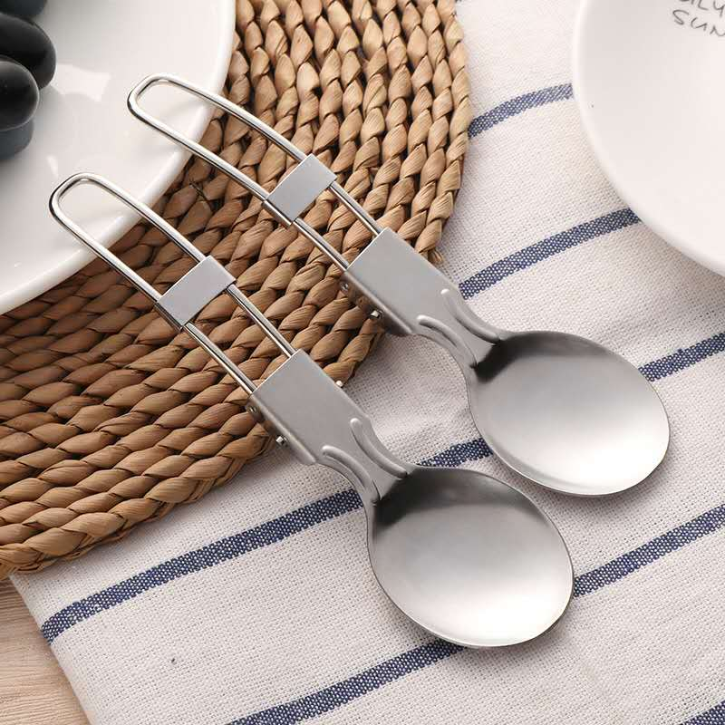 18/0 Trendy Stainless Steel Folding Spoon