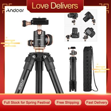 Andoer Q160SA Camera Tripod Complete Tripods Portable Travel Tripod for DSLR Digital Cameras Camcorder Mini Projector