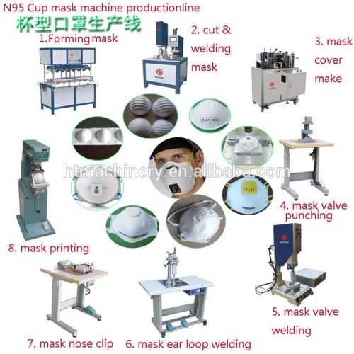 Ultrasonic Automatic N95 Cup Face Mask Making Machine