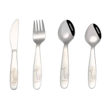 Food Grade Stainless Children Cute Cutlery Set