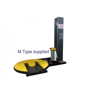 Forklift type automatic pallet stretch wrapping machine