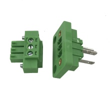3pin through wall panel mounted plug-in terminal block