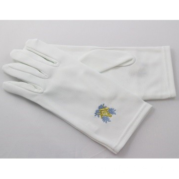 Pakaian Masonic Regalia White Cotton Gloves