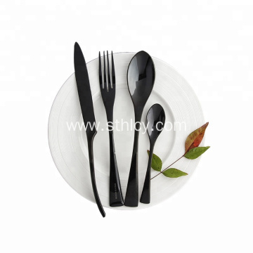 PVD Black Color Stainless Steel Flatware Set