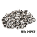 200/50 PCS Stainless Steel/Carbon Steel Flat Head Rivet Nuts Set M3 M4 M5 M6 Insert Reveting Multi Size Rivet Nuts