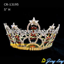 Full Round Rhinestone Crown Patriotic Crowns