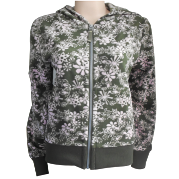 polyester printed micro fleece coats