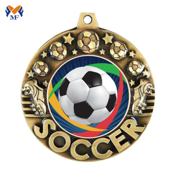 Cheap soccer sports trophies football medals for sale
