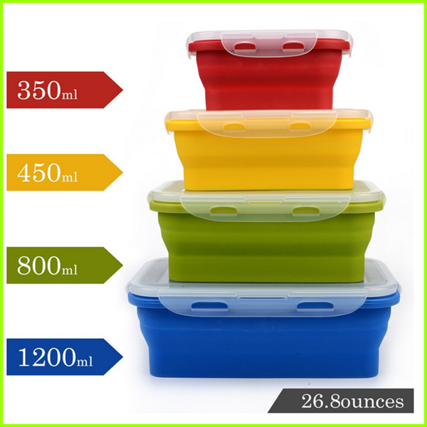 Hot Selling Silicone Lunch Box
