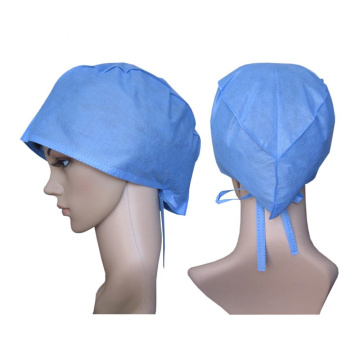Surgeon's Cap is made of non woven polypropylene spun-bondfabric.