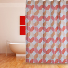 Shower Curtain PEVA Orange Coral