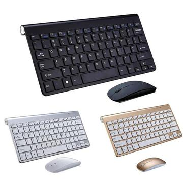 Mini Multimedia Full-size Keyboard Mouse Combo Set 2.4G Wireless Silent Keyboard And Mouse For Mac Notebook Laptop Desktop PC