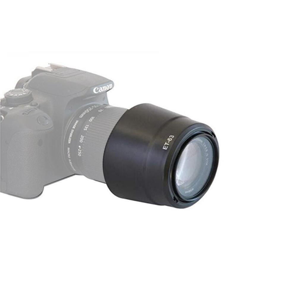 ET-63 hood Bayonet Lens Hood Light Shield Shade for Canon EF-S 55-250mm F/4-5.6 IS STM Camera Lens Hood