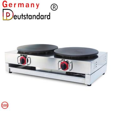 LPG double gas crepe maker machine with CE for sale