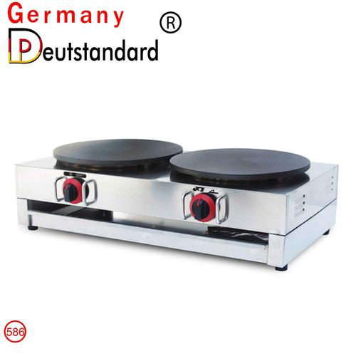 LPG Gas Double Crepe Maker and Pancake Machine