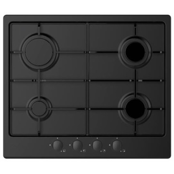 Candy Gas Hobs UK 4 Rings Black Steel