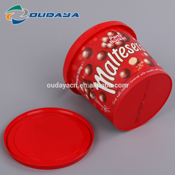 PP food grade plastic container with handle