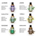 30ml Pure Essential Oils Diffuser Rose Lavender Eucalyptus Jasmine Sandalwood Vanilla Bergamot Tea Tree Aroma Essential Oil