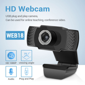 OULLX 1080P Webcam Built-in Microphone Smart WebCam USB Pro Camera for Desktop Laptops PC Game Web Camera For OS Windows Android