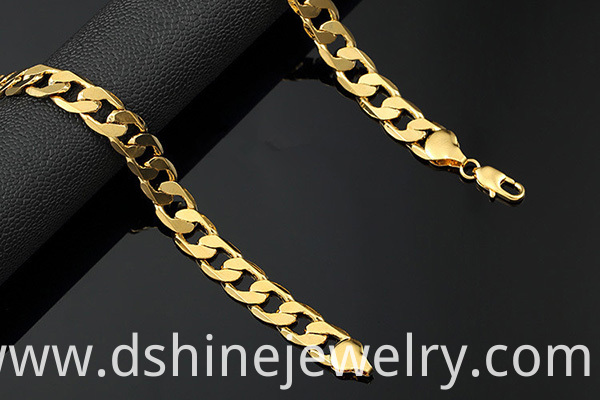 18K Gold Plated Copper Chain Necklace