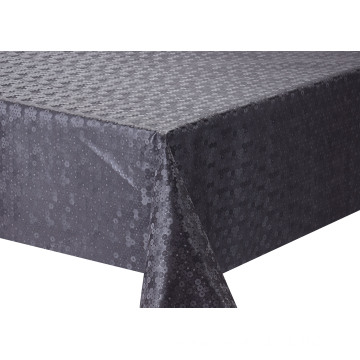Solid Embossed Fabric Tablecloth Elegant