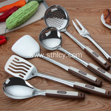 Stainless Steel Kitchen Tool Set Caddy Included 6-Piece