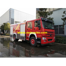 8000 Litres 310HP HOWO Fire Rescue Trucks