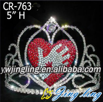 Love Heart Pageant Crowns