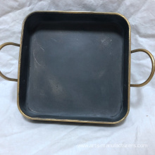 Square Antique Metal Iron Decration Tray