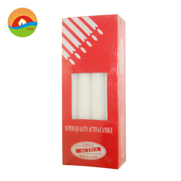 White long taper paraffin pillar wax candles
