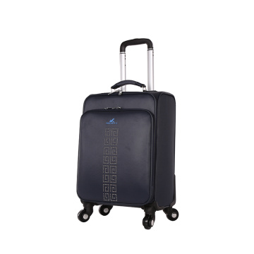OEM available black PU airport luggage for travel