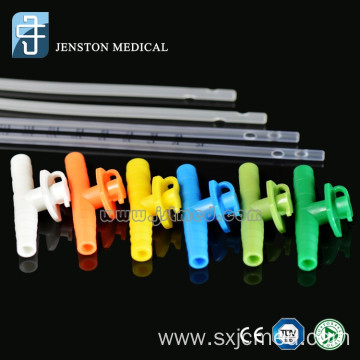 Disposable suction catheter with colour codes