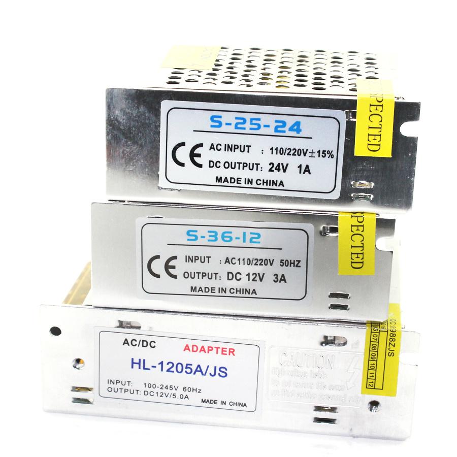 Power Adapter DC 5V 12V 24V 3A 5A 10A 15A 20A 25A 30A lighting Transformers 5 12 24 V Volt LED Driver Supply LED Strip Tape Lamp