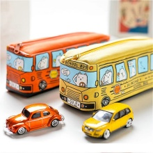 School Bus Pencil Case Cartoon Pen Bag Box for Kids Gift Cosmetic Stationery Pouch School Supplies