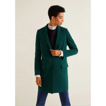 Winter Women Wool Classical Long Sleeve Coat