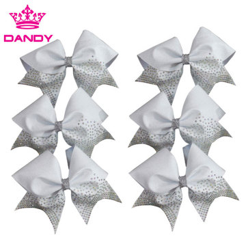 Custom Glitter Cheer Hair Bow For Babies