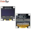"10pcs 0.96"" SPI/IIC I2C Communicate White/Blue/Yellow blue 0.96 Inch OLED Module 128X64 OLED LCD Display Module For ARDUINO"